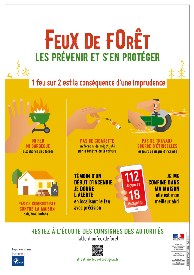 Feux de forêt, attention aux incendies !