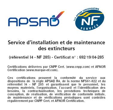 D3I Protection incendie Lyon - APSAD