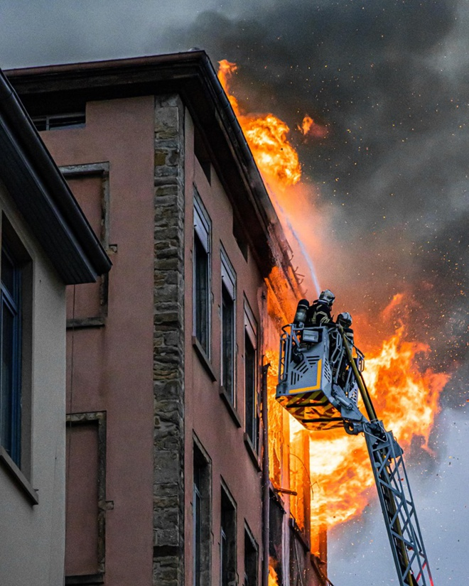 Incendie Lyon Croix Rousse