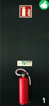 Signalisation d'extincteurs - Photo de Sinalux