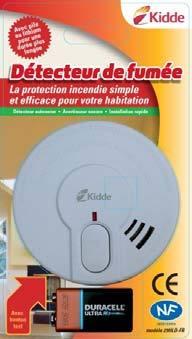 Détecteur de fumée photoélectrique standard pour les habitations