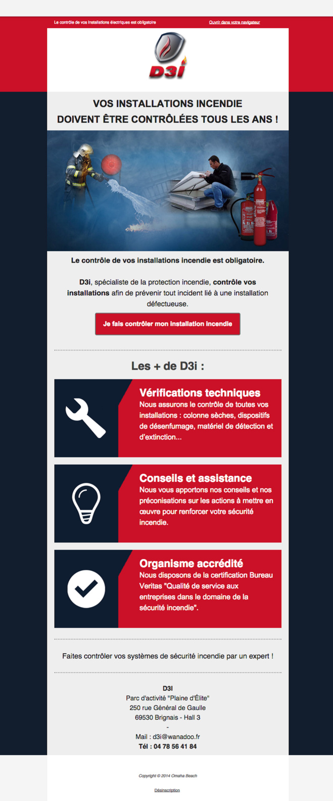 Vérification des extincteurs dans le département du Rhône - D3I Spécialiste Protection Incendie Lyon