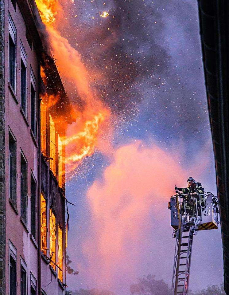 Incendie Lyon Croix Rousse-Crédit Photos Jeremy Cordier