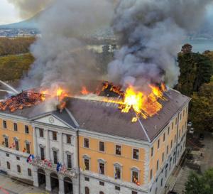 D3i spécialiste de la protection incendie sur Brignais et lyon vous informe : Incendie à la mairie d'Annecy