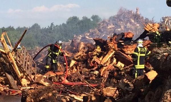 Incendie à Vernaison