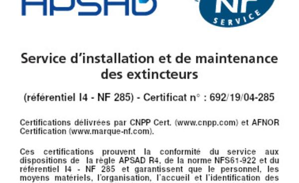 Qu'est-ce que la Certification APSAD & NF Services ?