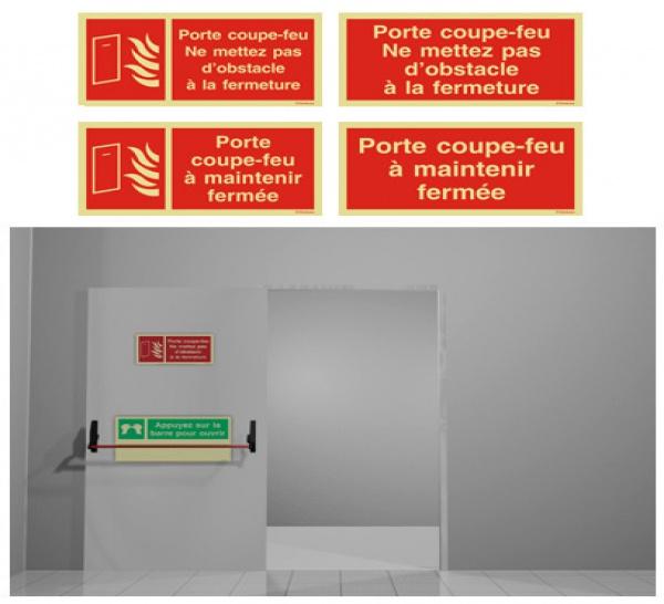 Signalisation incendie des Portes coupe-feu