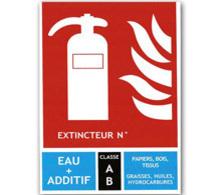 Signalisation incendie pour extincteurs